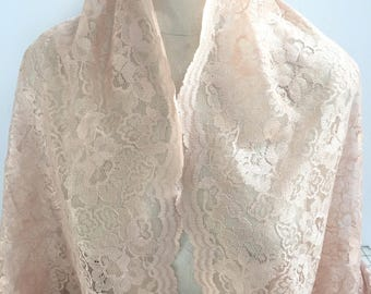 17-251 Nude Double Border Lace - Sold by the Yard
