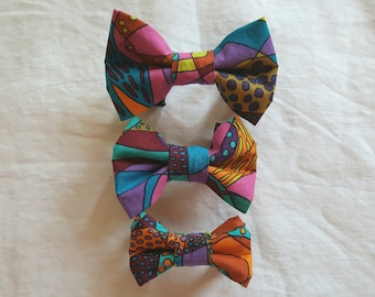 Pet Bow Tie - Crazy Abstract Colours