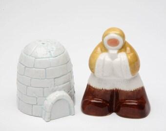 Eskimo with Igloo Salt and Pepper Shaker Set (20719)