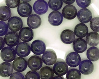 amethyst beads, purple beads, 10mm amethyst beads, amethyst beads 10mm, February birthstone, birthstone February, February birth stone