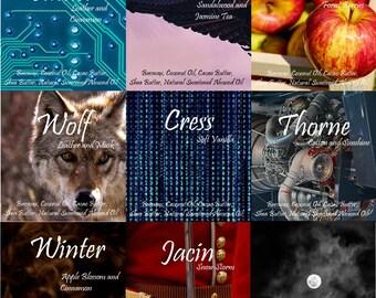 Lunar Chronicles Lipbalm | Marissa Meyer | Cinder, Kai, Scarlet, Wolf, Cress, Thorne, Winter, Jacin | Natural Lipbalm
