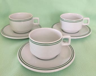 LEART from Brazil Demitasse Cups and Saucers - set of 3