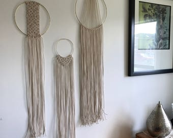 Set of 3 Macrame Wall Hangings