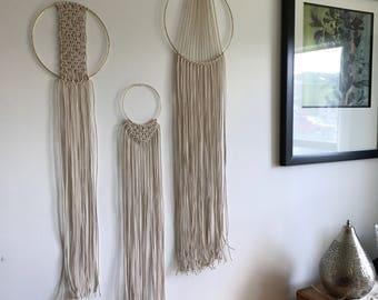 Set of 3 Macrame Wall Hangings