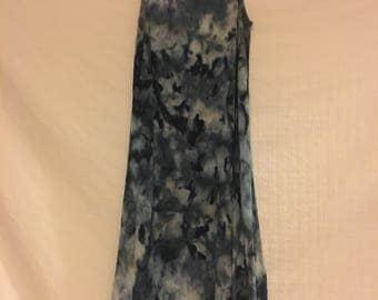 Women's size small/medium pullover swing dress/tie dye dress/ice dye/hand dyed