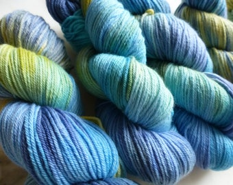 Hand Dyed Knitting Yarn from Madrigal Yarns - Papeete 100g Skein