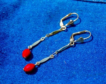 Lively Crystal Red Earrings