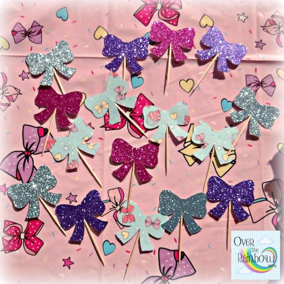 JoJo Siwa Inspired Party Cupcake Toppers Set