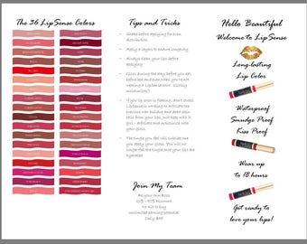 LipSense Brochure How to Apply - Tips & Tricks Insert