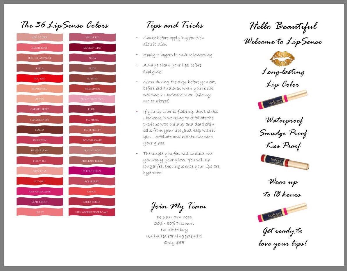 Lipsense Brochure How To Apply  Tips & Tricks Insert
