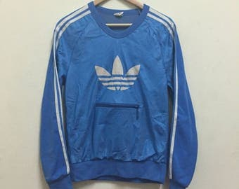 Vtg 80s Adidas Jogging Sweaters with Zipper opti sz Small