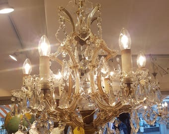 Chandelier  antique crystal