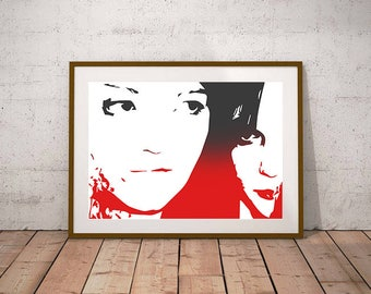 The White Stripes - Jack White, Meg White - Illustration, Print, Art, Music, Band