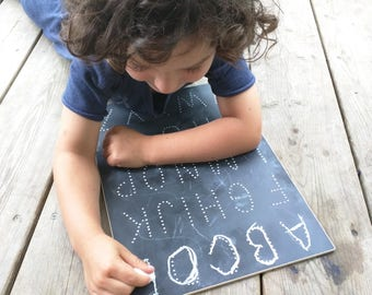 Traceboards - Traceable Chalkboard - Learning Toy - Uppercase Letters
