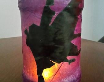Purple Fairy Luminary Jar