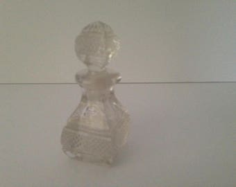 vintage glass perfume bottle.  glass cut.  vintage. perfume bottle
