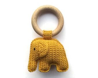 Elephant rattle yellow ochre