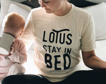 Lotus Stay In Bed Tee