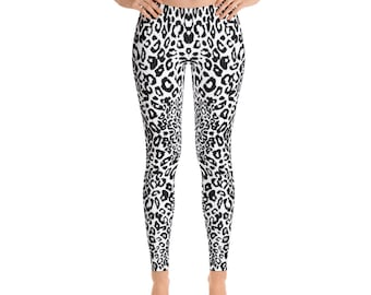 Leopard- Modern Animal Print Mid Rise Leggings