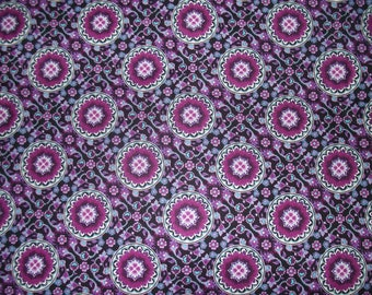 Fabric Remnant Lilac Medallion - New