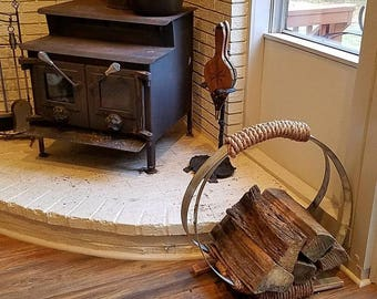 Wine Barrel Firewood Holder