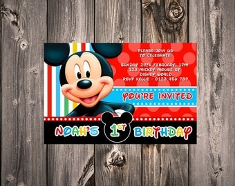 Mickey Mouse Invitation: Digital File, print yourself