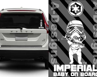 Star Wars Car Decals Baby On Board