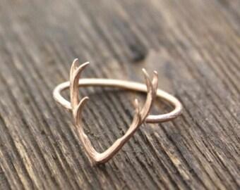 Deer Antlers Midi Ring