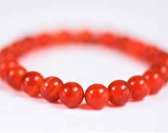 Carnelian 100% Natural Stone  Healing Stretch Bracelet ~ MOTIVATION