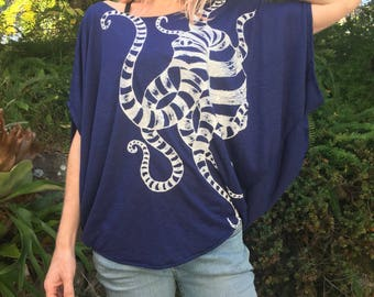 """Batwing female blouse """"Octopus"""""""