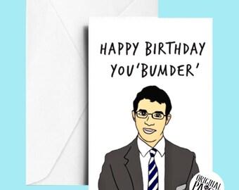 Inbetweeners Birthday card