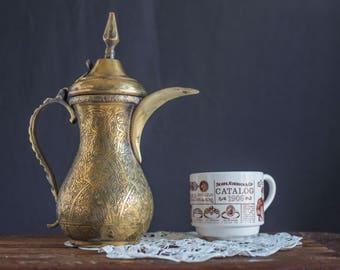 SALE Vintage Arabic Dallah Coffee Pot
