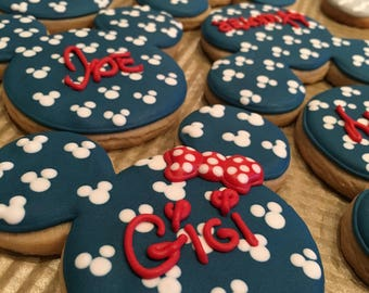 Mickey Mouse Personalized Cookies
