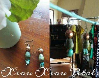 Custom Semi-Precious Stone Drop Earrings