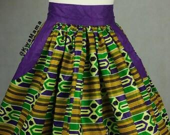 Kente skirt, African kente skirt, African wax Size US 6