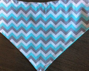 Pretty in blue reversible pet bandana