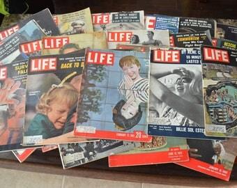 Vintage Lot 31 Life Magazines 50s 60s 70s