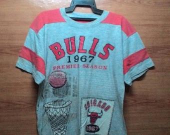 FREE SHIPPING !!! 90's Vintage Chicago Bulls 1967 (Nba) Basketball Tshirt Large size