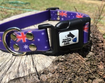 Australian waterproof dog collar