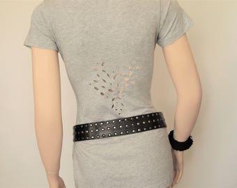 Cutout T Shirt,Long t Shirt,Open Back Tee,Stretch T Shirt
