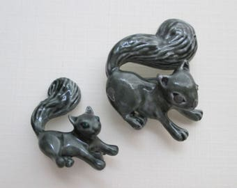 Squirrel Scatter Pins - Mother and Baby - Designer Signed Gerry's