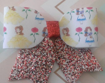 Belle glitter bow with tails
