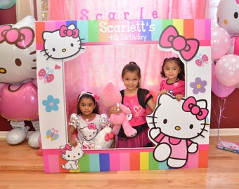 Large Custom Birthday Frames, Hello Kitty, Photo booth Frame, Picture Frame, Frame Prop, Photobooth props, photo props, Hello Kitty Frame