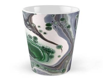 Original Art Print Coffee Tea Mug Cup - Green Thunder. Custom Order, Pre Order.