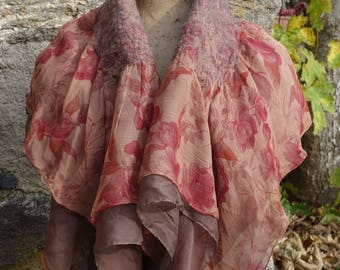 felted silk shawl
