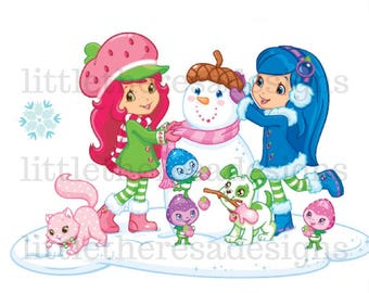 Strawberry Shortcake Winter Scene Transfer