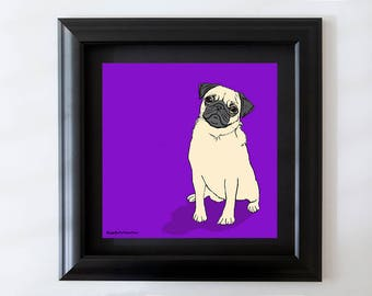 Pug Framed Wall art