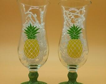 Tropical Pineapple Glasses