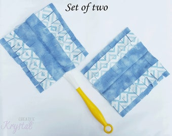 Washable Swiffer Dusters 360 Housewarming Gift Two Chevron Reusable Flannel refill heads - Swiffer, swiffer duster, reusable swiffer 360