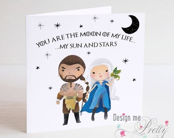 Game of Thrones - Drogo and Daenerys valentines Card
